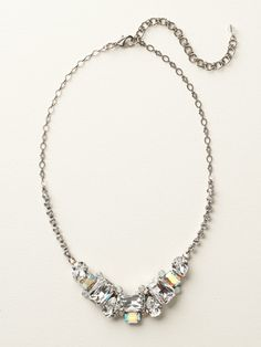 Emerald and Pear Cut Crystal Collar Necklace in White Bridal by Sorrelli - $170.00 (http://www.sorrelli.com/products/NCT13ASWBR)