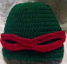 Red Ninja Turtle Beanie - Child Size