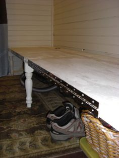 How to build a bench or sofa that folds out into a bed:  How to Live in 320 Square Feet: How to squeeze a Guest Room into a small home.....
