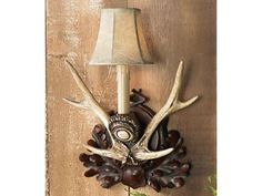 Check out our amazing assortment of deer antler lamps and antler decor on hand and ready to deliver at Black Forest Decor. Get big savings today on this Black Forest Antler Wall Sconce! Rustic Light Fixtures, Rustic Wall Sconces, Rustic Lamps, Rustic Chandelier, Deer Antler Lamps, Antler Lights, Antlers, Southwestern Lamps, Southwest Decor