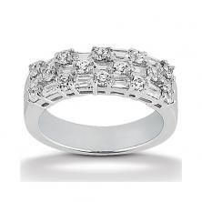 14k White Gold Womens Diamond Anniversary Or Wedding Band Containing 1.28 Carats Of Diamonds In Hi Color And Si1-si2 Clarity