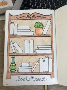 Books to Read! Bullet journal page
