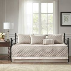 Shop for Madison Park Levine Khaki 6 Piece Cotton Daybed Cover Set. Get free delivery On EVERYTHING* Overstock - Your Online Fashion Bedding Store! Daybed Cover Sets, Daybed Sets, Daybed Bedding, Most Comfortable Sheets, How To Clean Pillows, Online Bedding Stores, Bed Dimensions, Affordable Bedding, Bed Styling
