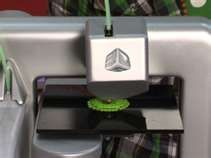Cube 3D Printer- it prints out actual 3 dimensional objects (like coffee cups, toys, or tools) from cartridges of different building materials (plastics and metals).