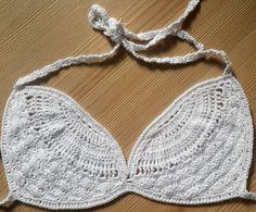 EXPRESS CARGO White Crochet Sexy Bikini Top. Women by formalhouse