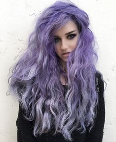 Violet Purple Ombre Hair Color ❤️ When you think about purple hair, you might love the look but hesitate if it fits your features. Violet Hair Colors, Hair Color Purple, Purple Ombre, Pastel Purple, Violet Ombre, Purple Shoes, Edgy Hair Colors, Girl With Purple Hair, Vivid Hair Color