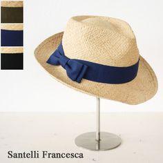 Santelli Francesca with raffia hat (wide-brimmed) * Ref38766/A SM38766-A-