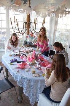 Girls Valentine Craft Party