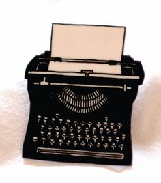 Typewriter pin brooch by ruthbroadway on Etsy, £18.00