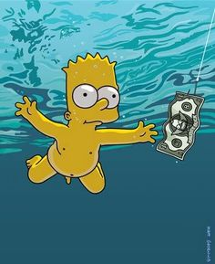 "Baby Bart/Nirvana's ""Nevermind"" album cover"