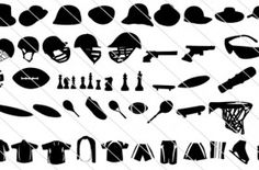 125 Sports Silhouette Vector Elements