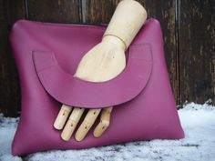 Funky ipad /clutch bag in  leather