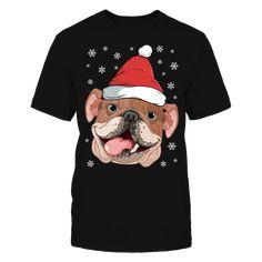 81053b00a9f14 The English Bulldog with Santa Hat Funny Christmas