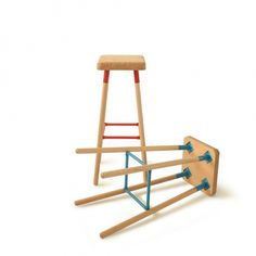 Marco Barstool   Beech and Steel - 80CM - 6 Colours