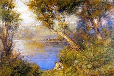 Frederick MCCUBBIN Australia 1855 – 1917 Golden sunlight 1914 oil on canvas signed and dated 'F McCubbin/ lower right (h) x (w) cm Castlemaine Art Gallery & Historical Museum, Victoria gift of Dame Nellie Melba, 1923 Australian Painters, Australian Artists, Artist Painting, Artist Art, Impressionist Artists, Art Database, Landscape Paintings, Landscapes, Insta Art
