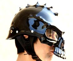 FREE SHIPPING WORLDWIDEThe 489 skull face helmets are designed to be worn in skull face front-side or back-side, in case of very dark night riding, or strict law requirement in some countries. Good-looking for Harley Davidson Chopper Bikers!Features:~ Fiberglass Shell~ Not DOT Certified~ Back-Side Front Feature when necessary~ Removable Sunvisor (Clear/Mirror/Rainbow/Darksmoke Available)~ Improved Skull Face~ Custom Order Ok for any color, size, and graphics (sales@maseihelmets.com)~ ...