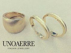 UNOAERRE 18K yellow gold Ring /Pierce