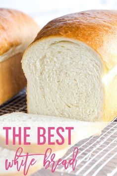 This is a classic White Bread Recipe, and so easy! The loaves bake up incredibly… This is a classic White Bread Recipe, and so easy! The loaves bake up incredibly tall, soft and fluffy… the perfect white bread! Best Bread Recipe, Easy Bread Recipes, Baking Recipes, White Bread Machine Recipes, White Bread Recipes, Homemade White Bread, Simple Bread Recipe, Bread Machine Bread, Easy Homemade Bread