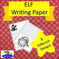 ELF Writing Paper - Lined Paper - Elf Theme by HappyEdugator | Teachers Pay Teachers