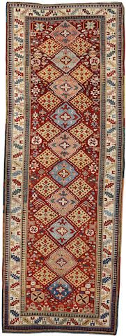 Shirvan runner  Caucasus  late 19th century  size approximately 3ft. 9in. x 10ft. 5in.