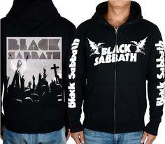 BLACK SABBATH MUSIC HOODIE CLASSIC METAL black 100% cotton