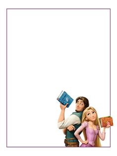"Rapunzel and Flynn Rider - books - Tangled - Project Life Journal Card - Scrapbooking ~~~~~~~~~ Size: 3x4"" @ 300 dpi. This card is **Personal use only - NOT for sale/resale** Logo/clipart belongs to Disney. *** Click through to photobucket for more versions of this card ***"
