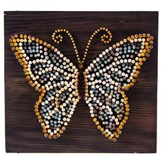 This Beautiful Butterfly Nail Wall Art Is A Unique And Inspiring Wall Art  Decor Piece For Your Home.