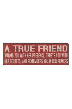 cc9d492fe True Friend Wood Block Amigos Verdadeiros, Grandes Citações, Citações Para  Se Viver, Citações