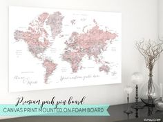 Personalized Anniversary Pushpin World Map.43 Best Maps Images Wall Maps Travel Cards Travel Maps