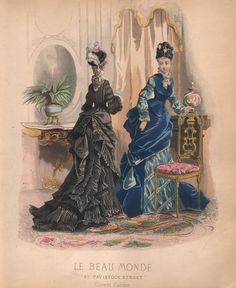Vintage Victorian Women's Fashion Plate by Le Beau Monde Circa 1870s (Print or Digital Image). $9,00, via Etsy.