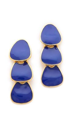 => Kenneth Jay Lane Polished Drop Earrings |  Decent Price  Enameled plates lend a deco feel to this pair of dangle earrings. Post closure.Made in the USA.MEASUREMENTSLength:  3.5in / 9cm  Where Can I Buy until you click to see price