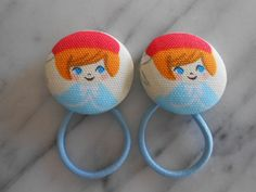 Parisian Girl Ponytail holders make darling party favors by babyraindrops. www.babyraindrops.etsy.com.