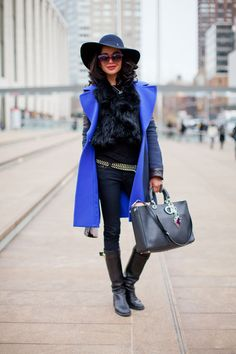Street Style Fall 2013 - New York Fashion Week Street Style - Harper's BAZAAR - This showgoer lets her accessories speak loudest.