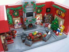 A Very Merry Christmas! Lovely Lego Christmas living room A Very Merry Christmas! Village Lego, Lego Christmas Village, Lego Winter Village, Lego Design, Lego Minecraft, Lego Friends, Lego Disney, Lego Sets, Casa Lego