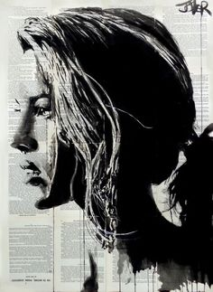 tigerlily Ink drawing by Loui Jover Art And Illustration, Street Art, Newspaper Art, Newspaper Pictures, Art Anime, A Level Art, Arte Pop, Portrait Art, Female Art