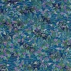 Japanese Chiyogami Yuzen approx A4 blue by Geraldinesupplyshop