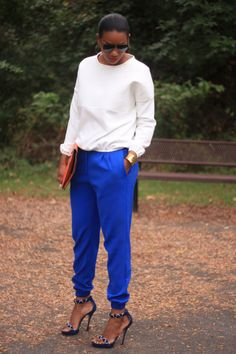 Beaute' J'adore: DIY Slouchy Pants and Sweatshirt