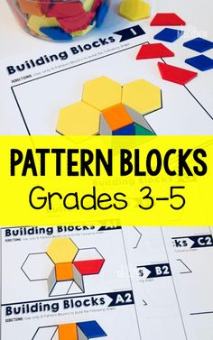 My students had a blast! Pattern Blocks Math Task Cards for Grades Upper Elementary Math Geometry Task cards for critical thinking and problem solving skills. Teaching 5th Grade, Fourth Grade Math, Teaching Math, Teaching Ideas, Math Strategies, Math Resources, Math Activities, Elementary Math, Upper Elementary