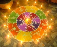 illuminations of a diwali night out of an Indian house