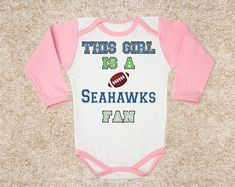 this girl Seahawks logo FAN baby body bodysuit clothing girl kids children toddler Baby Child girl Clothing Kid's - My list of the most beautiful baby products Beautiful Babies, Most Beautiful, Browns Fans, Baby Body, Daughter Love, Seahawks, Simple Dresses, Shirt Outfit, Kids Shirts