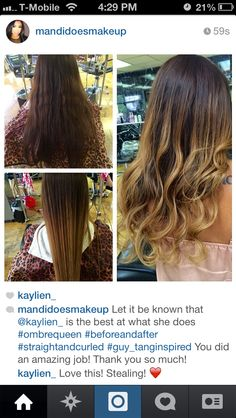Pictures don't do it justice! So healthy and beautiful! Chocolate and honey ombré.