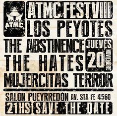 ATMC FEST VOL VIII JUEVES 20/11/14 EN EL SALON PUEYRREDON