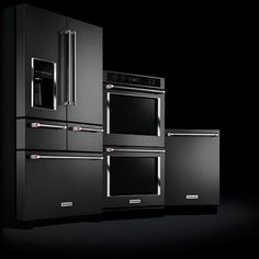 2016 Trend: The First Ever Stainless Steel BLACK Premium Kitchen Appliances and Suites | KitchenAid Refrigerator Ovens Freezer Dishwasher