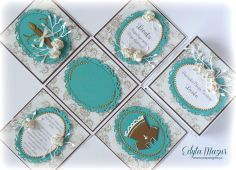 Turquoise and gold box on Baptism Leon - Scrapbook.com