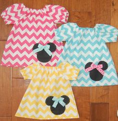 Minnie Mouse Chevron Infant Tunic Top - birthday, Walt Disney World, family vacation, party on Etsy, $25.00