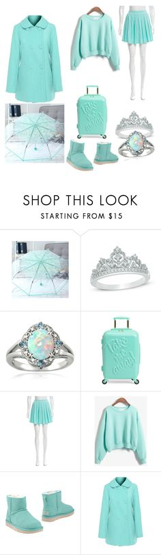 """Mint mint mint"" by lauren-1992 on Polyvore featuring Glitzy Rocks, Alice + Olivia, WithChic and UGG"