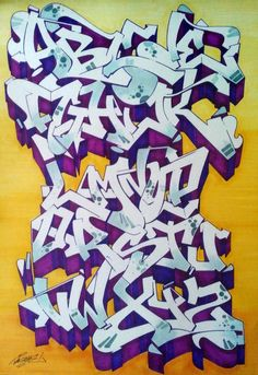 20 Graffiti Alphabets that will blow your mind Bombing Science - Home decor Graffiti Piece, Graffiti Wall Art, Best Graffiti, Graffiti Drawing, Graffiti Artists, Graffiti Lettering Alphabet, Graffiti Alphabet Styles, Graffiti Styles, Graffiti Images