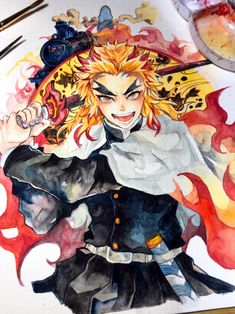 Manga Art, Manga Anime, Anime Art, Demon Slayer, Slayer Anime, Chibi Characters, Cute Chibi, Anime Demon, Copic