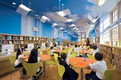 Clouds on the ceiling @ SLJ1104w Design1 Divine Design: How to create the 21st century school library of your dreams