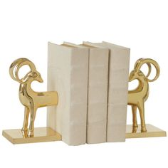 DwellStudio Gazelle Bookends (Set Of 2) (53 KWD) ❤ liked on Polyvore featuring home, home decor, small item storage, books, decor, fillers, book ends, safari home decor, dwellstudio and book-end